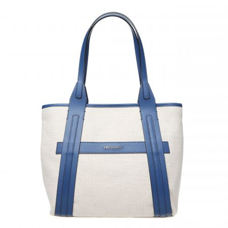 Borsa a spalla Trussardi Donna Bianco 76B120M_128Natural-Blue