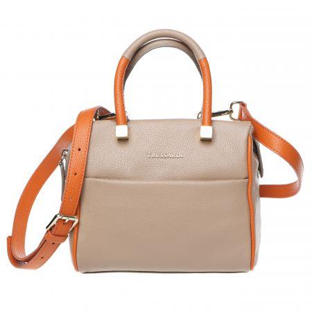 Handbag Trussardi 76B265M_83Taupe-Orange