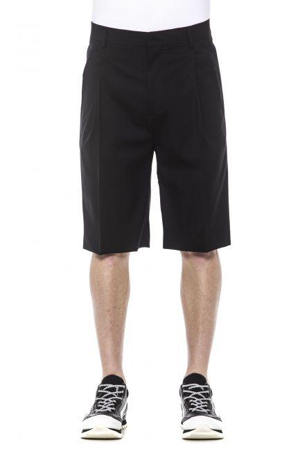 Wide Leg Shorts Les Hommes LHE490ALE400D_9000Black