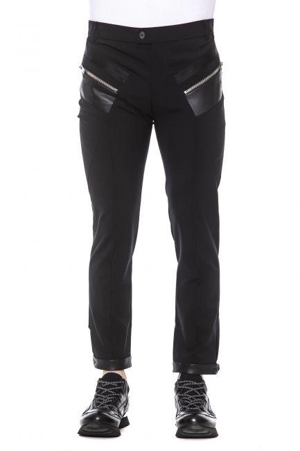 Pantalone Les Hommes Uomo Nero LHG406ALG400E_9000Black