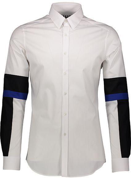 Camicia Les Hommes Uomo Bianco UIS408403U_1097White-Black-Cobalt