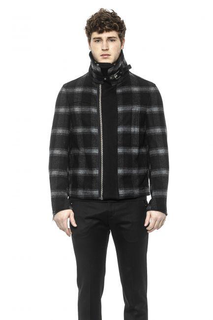 Mid Lenght Jacket Les Hommes LHO300203U_9008Black-Grey
