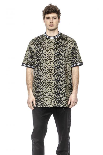 T-Shirt Les Hommes Uomo Verde LHE820PLE810_3109Olive-Black