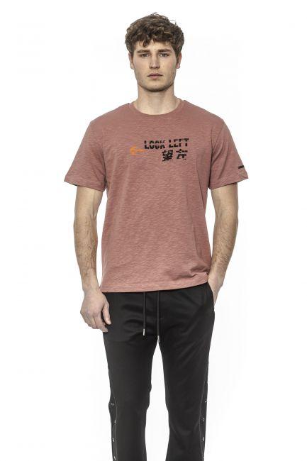 T-Shirt Les Hommes Uomo Rosa UHT205702P_4309OldPink-Black