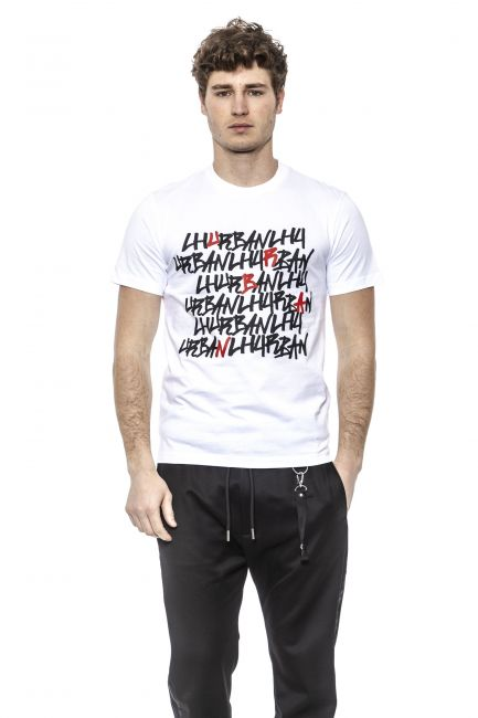 T-Shirt Les Hommes URG800PUG808_1095-White-Black-Red