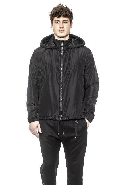 High Neck Hooded K-way Les Hommes UHO301250U_9000Black