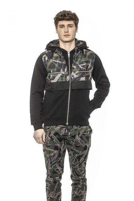 Hooded Zip-up Sweatshirt Les Hommes URF868BUF850L_9003Black-Green