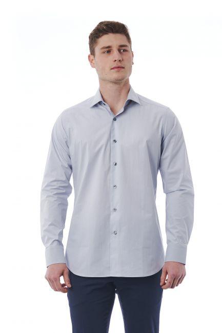 Camicia Bagutta Uomo Grigio 310_BL02496_080Perla