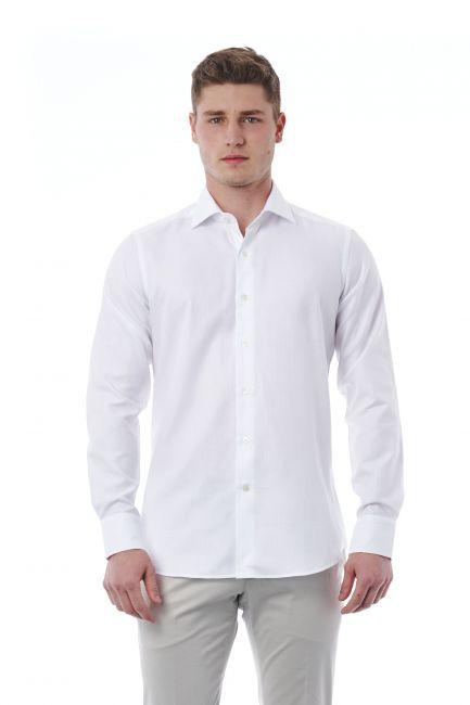 Camicia Bagutta Uomo Bianco 310_BL54684_101BIANCO