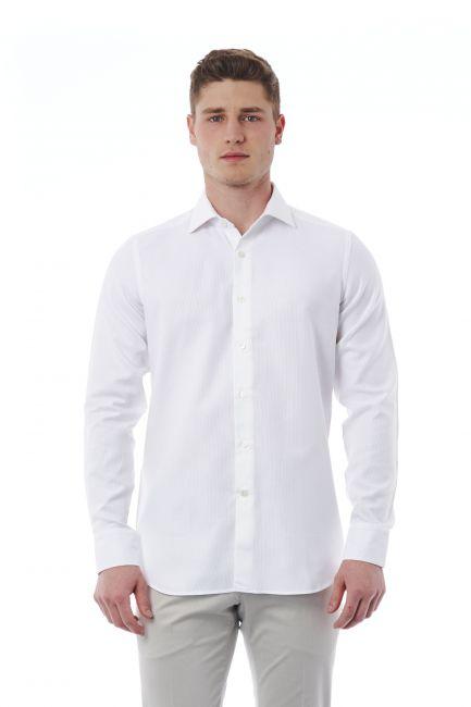 Camicia Bagutta Uomo Bianco 310_BL55205_103BiancoGrigio