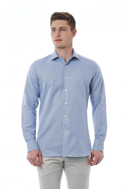 Camicia Bagutta Uomo light-blue 310_BL57524_039RosaBianco