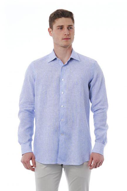Camicia Bagutta Uomo light-blue 050_AL00045_353BiancoAzzurro