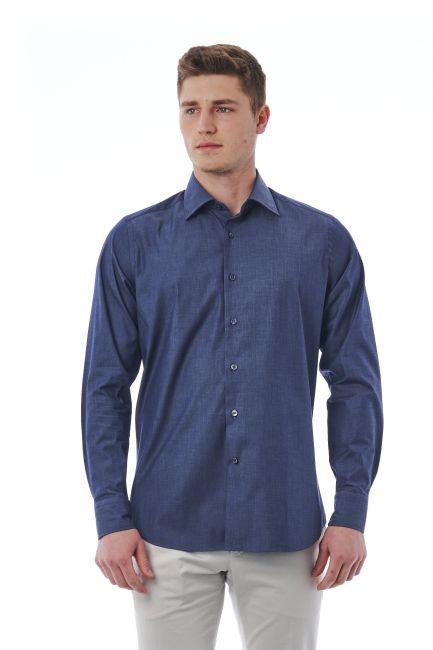 Camicia Bagutta Uomo Blu 050_AL11618_050Azzurro