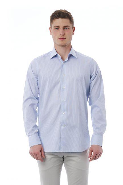 Camicia Bagutta Uomo light-blue 050_AL11619_280Grigio