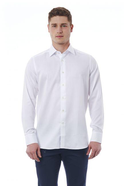 Camicia Bagutta Uomo Bianco 050_AL55205_102Bianco