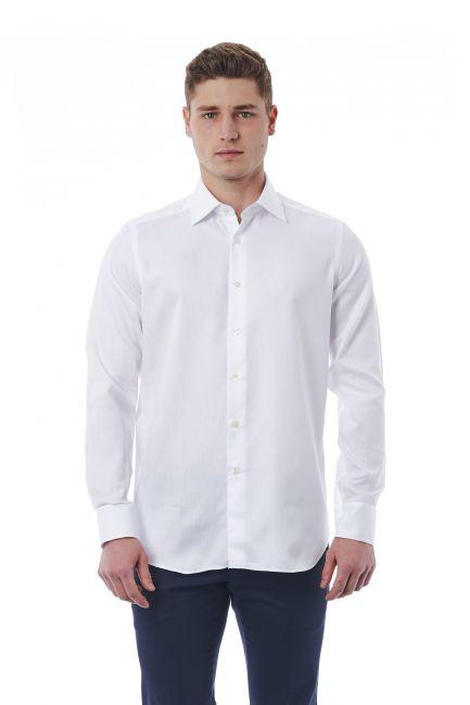Camicia Bagutta Uomo Bianco 050_AL55666_104Bianco