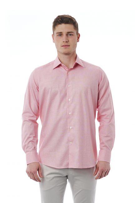 Camicia Bagutta Uomo Rosa 050_AL55978_037BiancoRosa