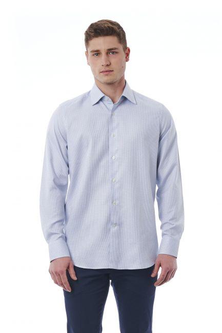 Camicia Bagutta Uomo Grigio 050_AL56961_042Bianco
