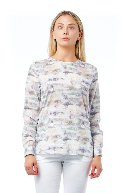 Camicia Bagutta Donna Bianco 21033_LillaLilac