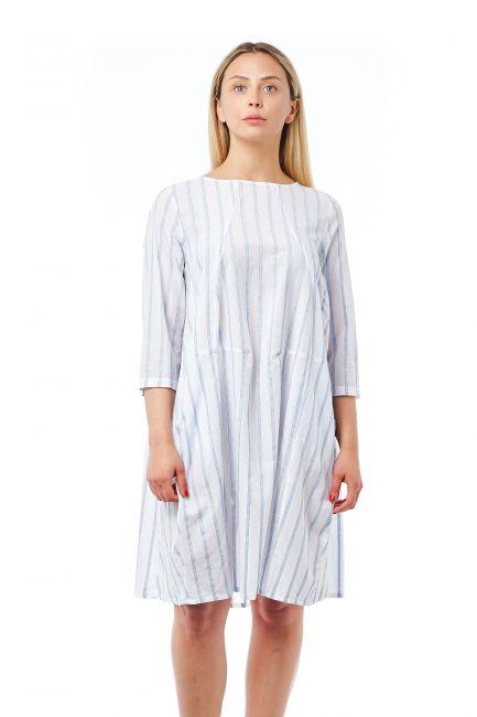 Round Neck Dress Bagutta 21037_BiancoWhite