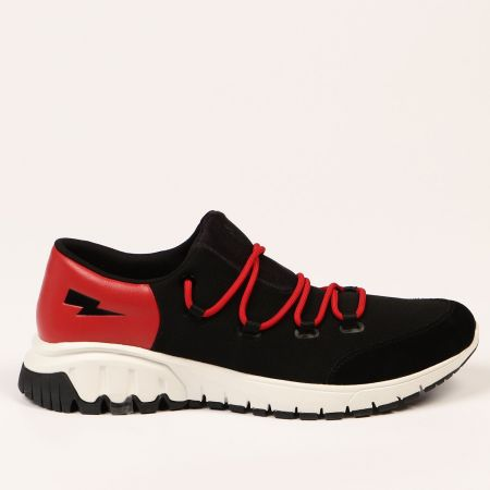 Sneakers Neil Barrett Uomo Nero 21101_1097RED-BLACK