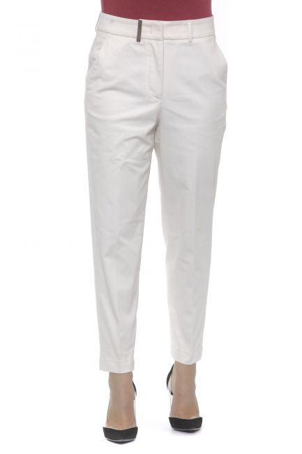 Stretch Cotton Trousers Peserico 21192_841BEIGE