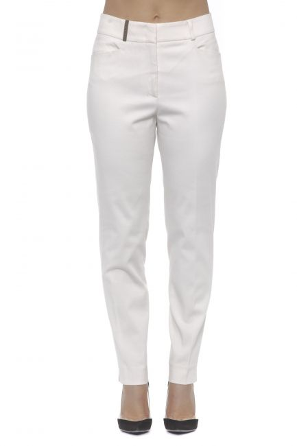 Stretch Cotton Trousers Peserico 21193_804ROSA