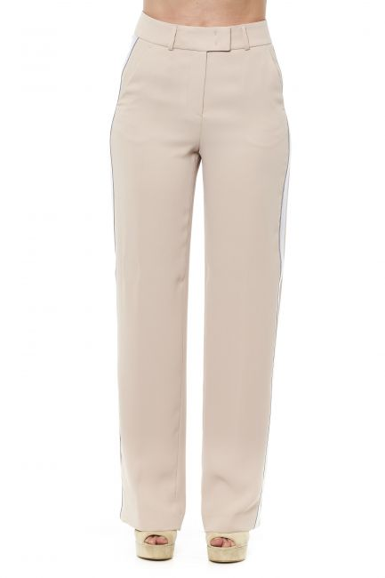 Striped Palazzo Trousers Peserico 21232_042BEIGE