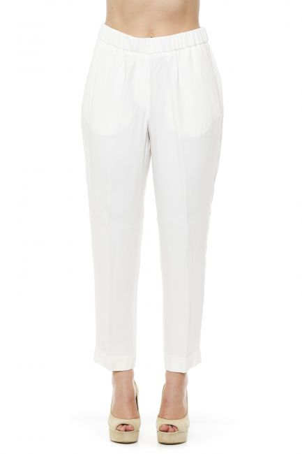 Regular Waisted Trousers Peserico 21252_003BIANCO