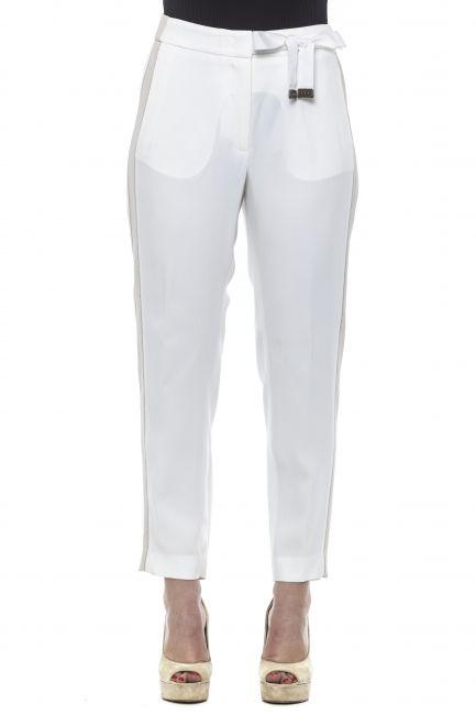 Regular Waisted Trousers Peserico 21259_03ABianco