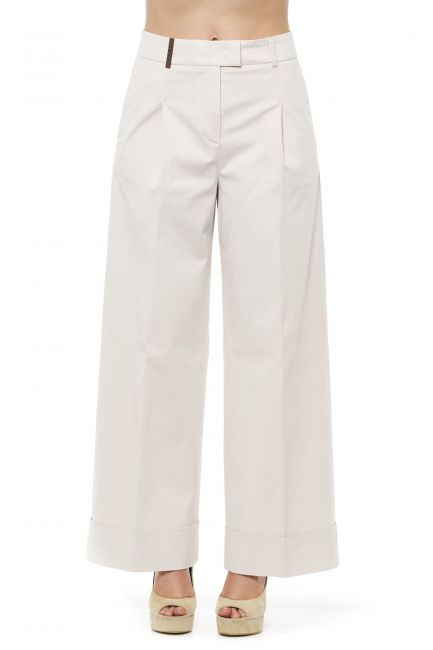 Wide Palazzo Trousers Peserico 21265_044Beige