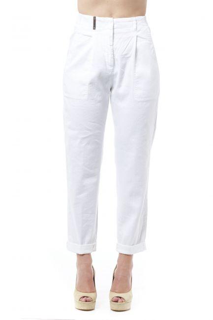 Slightly High Waist Pants Peserico 21267_001BIANCO