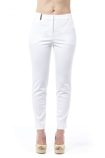 High Waist Trousers Peserico 21274_001BIANCO