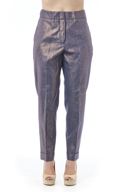 Metallic-effect Trousers Peserico 21296_961BLU