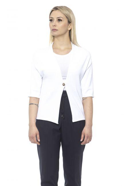 Cotton Tricot Cardigan Peserico 21303_300BIANCO