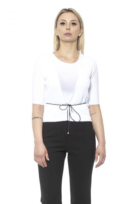 Short Sleeve Light Cardigan Peserico 21306_300BIANCO