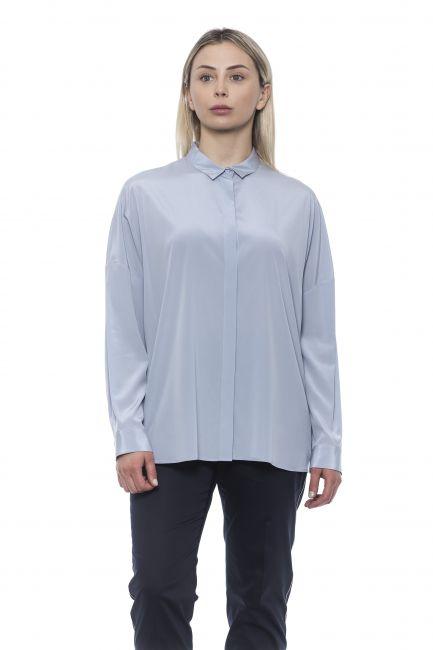 Fluid Shirt Peserico 21311_082Azzurro