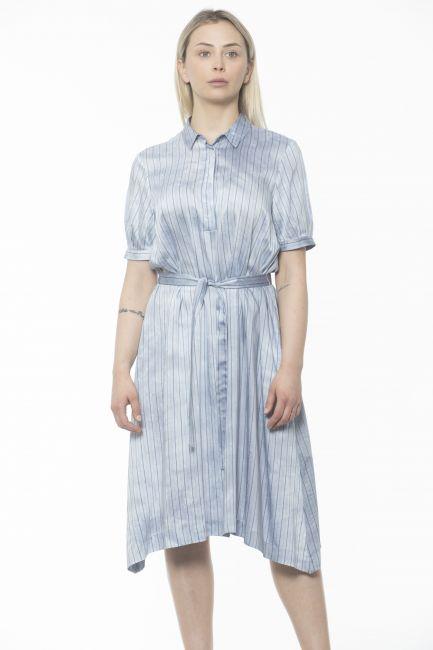 Midi Dress With Peserico 21315_982Azzurro