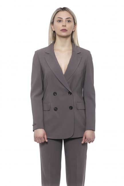 Double-breasted Blazer Jacket Peserico 21330_058Marrone