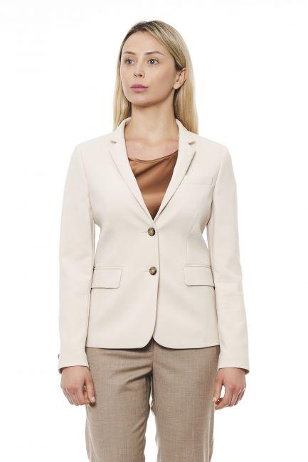 Textured Long Sleeve Blazer Peserico 21332_044Beige