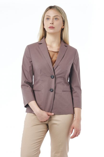 3/4 Sleeve Blazer Jacket Peserico 21334_058Marrone