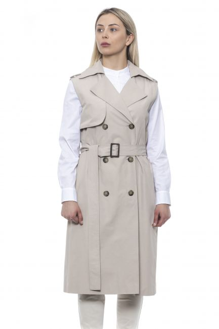 Double-breasted Trench Vest Peserico 21336_044Beige