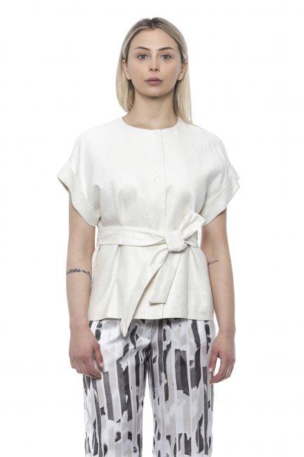 Kimono Sleeve Vest Peserico 21337_903Bianco