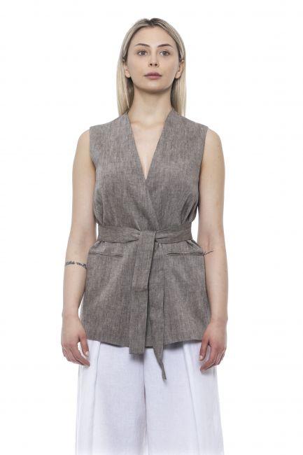 Soft Vest Peserico 21338_958Marrone