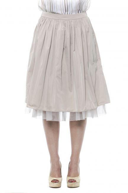 Knee Midi Skirt Peserico 21344_44EBeige