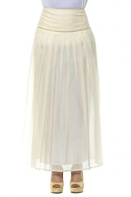 Long Skirt Peserico 21346_004Beige