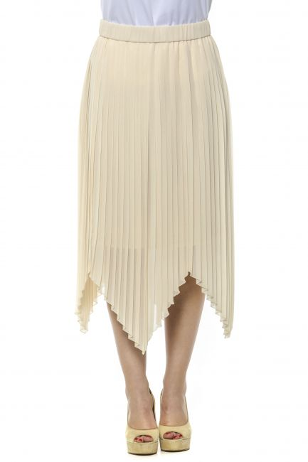 Midi Pleated Skirt Peserico 21348_045Beige