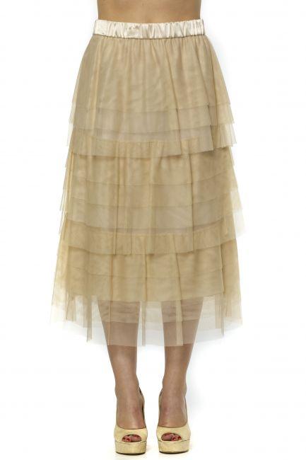 Knee Skirt Peserico 21350_44ABEIGE