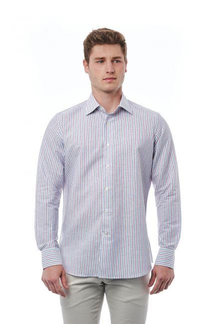 Shirt Bagutta Men's 21376_230BiancoRosaAzzurro