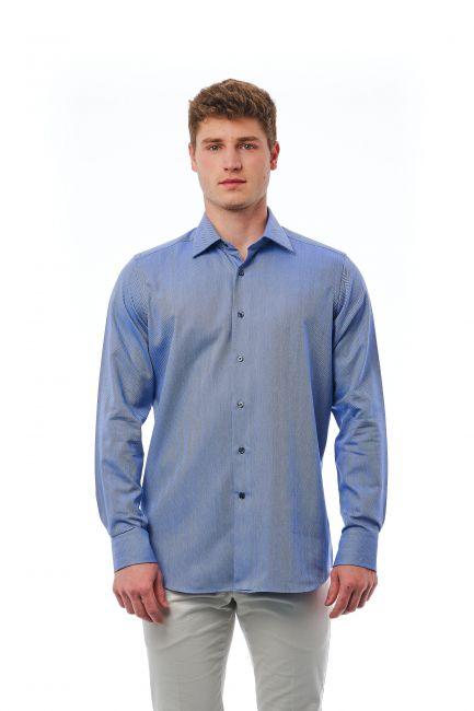 Shirt Bagutta Men's 21394_039BiancoAzzurro